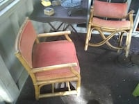 Rattan Solid Wood Side Chairs Richmond, 23236