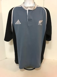 Adidas New Zealand All Blacks Blue Rugby Jersey  Polo Shirt Mens XX-Large . VGUC Long Beach, 90804
