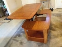 Solid wood brown wooden drop leaf table Picayune, 39466