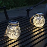 Glass Solar Hanging Lights With 3M 30 LED Fairy Light Patio Garden Rockville, 20852