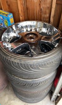 """22"""" rims and tires 5 bolt pattern MUST GO"""