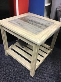 New White Wash Solid Wood End Table Virginia Beach, 23462