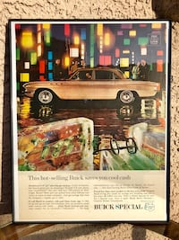 Vintage Mid Century Advertisement/Wall Art- 1961 Buick Special