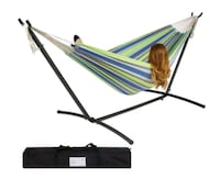 BCP Double Hammock Set with Steel Stand and carry  Lawrenceville, 30046