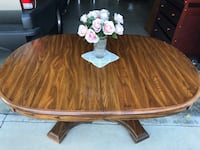 Wooden expandable table  Rancho Cucamonga, 91730