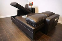 Brown Reversible Sofa Sleeper Chaise with Storage  Houston, 77055