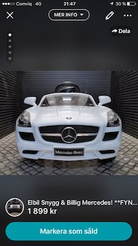 Vit mercedes-benz sls amg ride-on leksak bil skärmdump