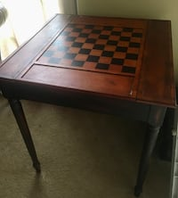 Reversible wood game table