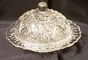 Cut Heavy Crystal Dome Entertaining Dish