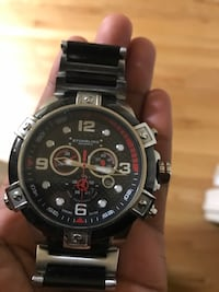 round silver and black chronograph watch Upper Marlboro, 20772