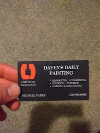 Davey's Daily Painting business card