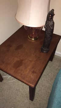 brown wooden table with two chairs Ashburn