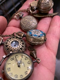 Antique Style Pocket Watch Necklaces , 11249