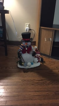 White,red and black snowman decor