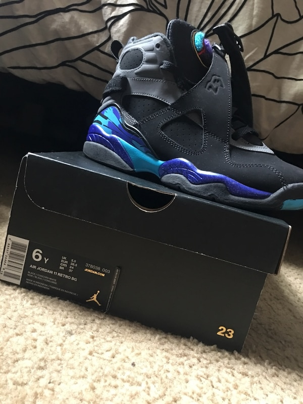 quality design 57275 d70fe Used Black air jordan 8 shoes with box for sale in New York - letgo