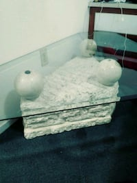 Coffee table, Stone with glass must go no room!! North Las Vegas, 89030