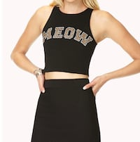 "Forever 21 ""MEOW"" CROP TOP"