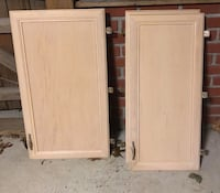 used cabinet doors with handles, drawers, molding and a lazy susan Centereach