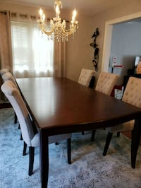 rectangular brown wooden table with four chairs dining set West Caldwell, 07006
