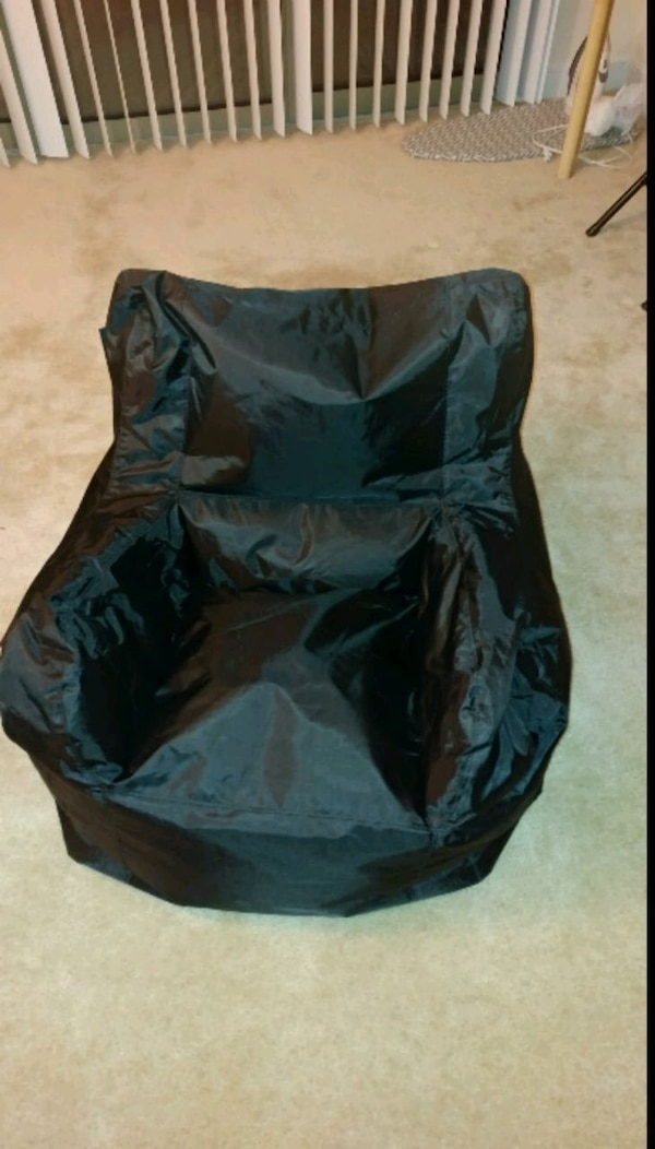 Black bean bag chair