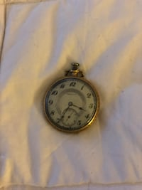 1930's pocket watch gold plate