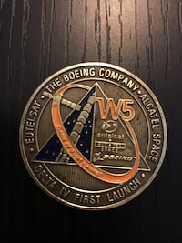 Rare nasa issued boeing delta 4 first launch coin