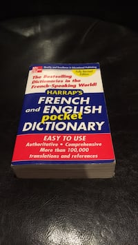 French and English dictionary  Red Deer, T4R 3C9