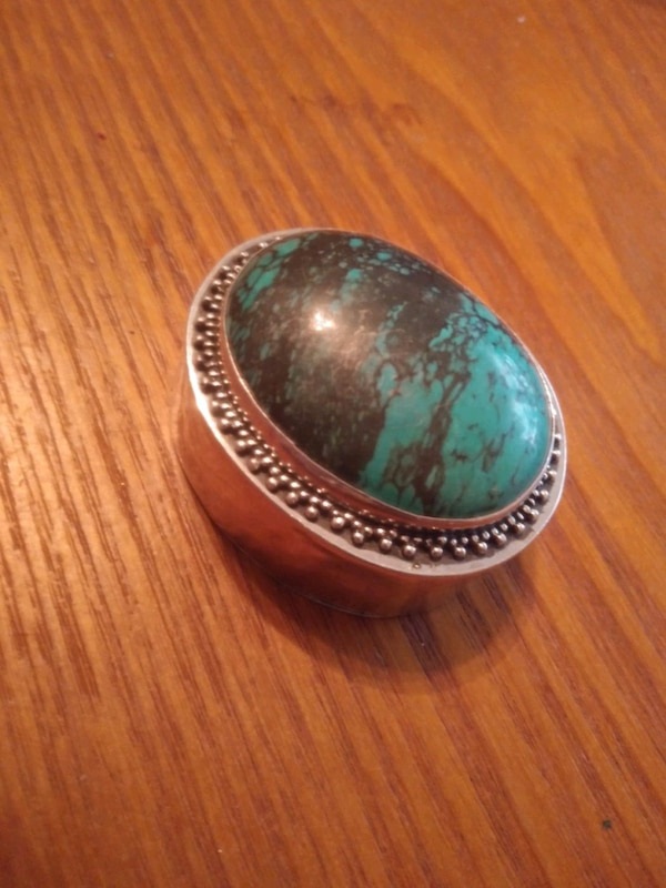 Sterling/Turquoise Pill Box 1