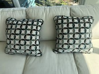 New cream and teal throw pillows Vancouver, V6Z