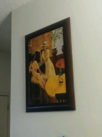 brown wooden framed painting of woman Laredo, 78045