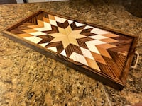 Handcrafted Geometric Tray New Orleans