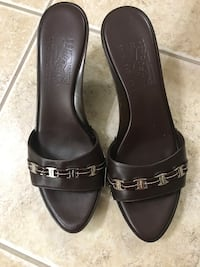 Salvatore Ferragamo faux wood wedge Gaithersburg, 20879
