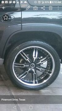black and gray car wheel Houston, 77091