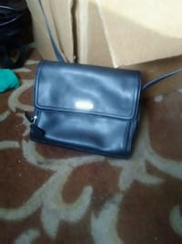 black leather crossbody bag with silver studs Des Moines, 50310