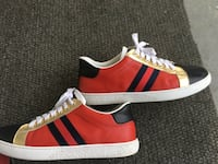Pair of red Gucci low top sneakers size 42-43 9.5 Washington, 20019