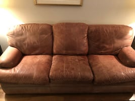 3-piece leather couch set