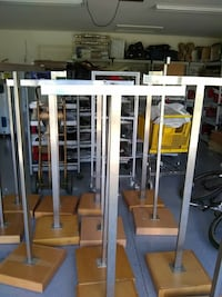 assorted stainless steel and brown stand racks Fort Myers, 33913