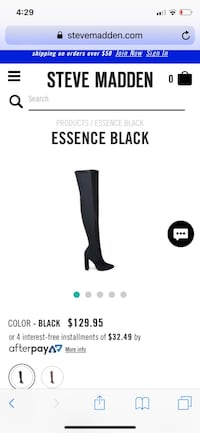 Steve Madden essence black over knee boots  Centreville, 20121