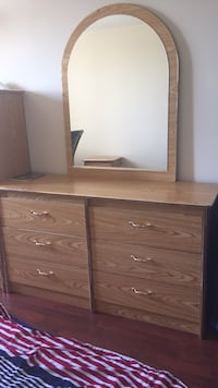 brown wooden dresser with mirror Mississauga, L5N 3S6