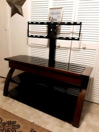 black wooden TV stand with mount Omaha, 68122