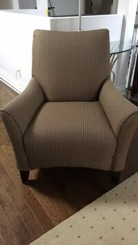 gray and white fabric sofa chair Pickering, L1V 6N7