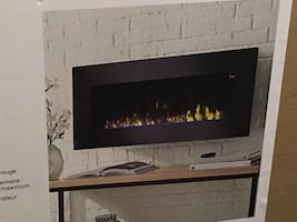 Brand new wall or table top fireplace.