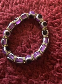 Purple evil eye bracelet Asheville