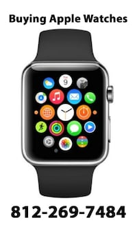 space gray aluminum case Apple Watch with black sport band Bloomington