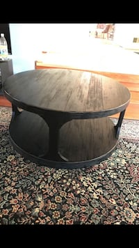 round black wooden coffee table 28 km