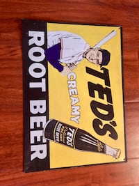 Vintage Ted's creamy Root beer Metal sign Henderson, 89012
