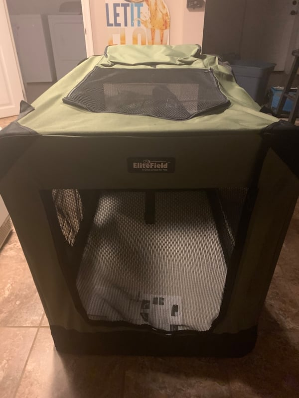Portable soft dog crate 3