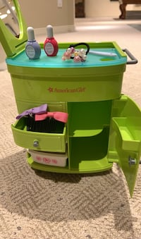 American Girl Doll Styling Cabinet
