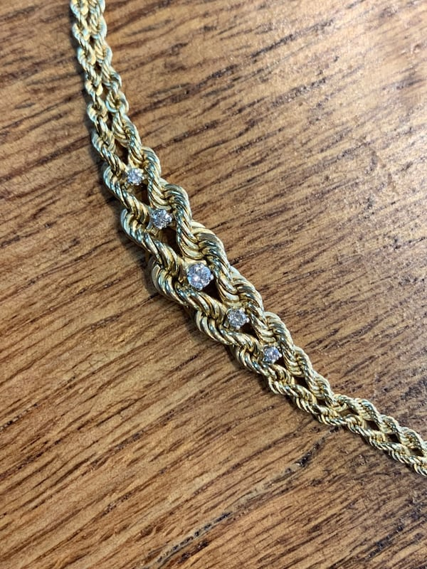 14k Gold 5 Diamond Bracelet 6