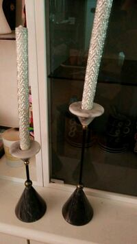 two marble candle holders Winnipeg, R2P 0X5